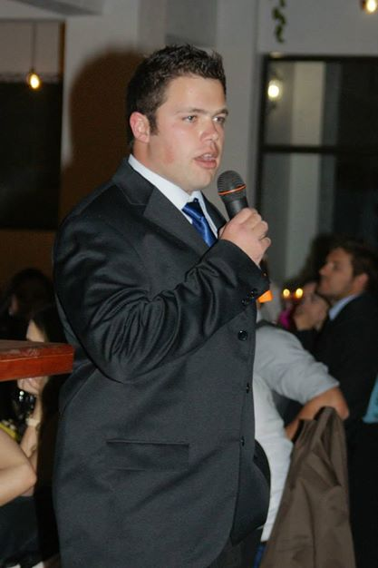 Dr Ferreira speaking at the annual Chiropractic ball